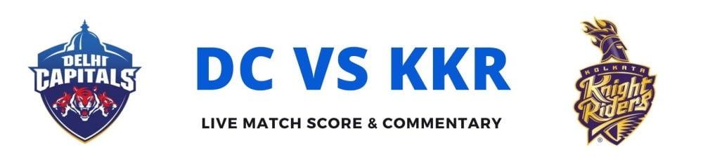 KKR vs DC live score