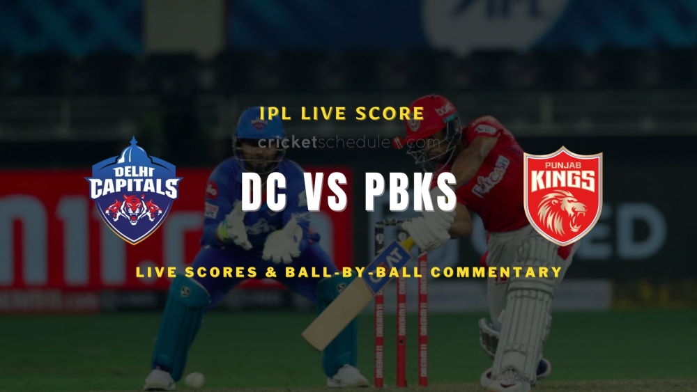 DC vs PBKS 2021 match live score