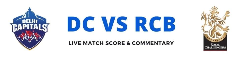 DC vs RCB live score