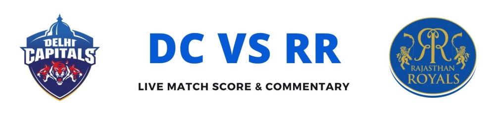 DC vs RR live score