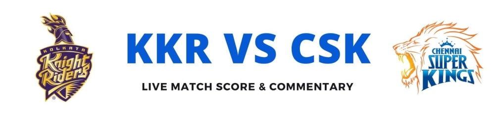 KKR vs CSKlive score