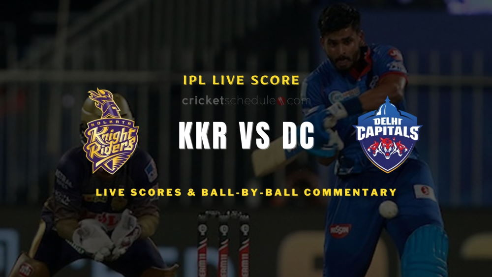 KKR vs DC 2021 match live score
