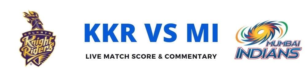 KKR vs MIlive score