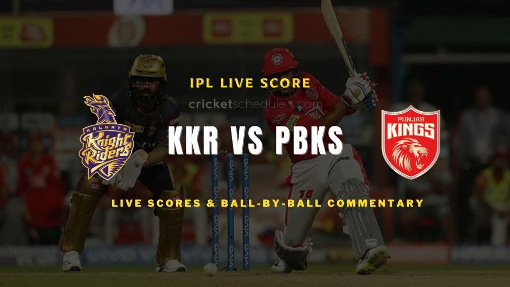 KKR vs PBKS2021 match live score