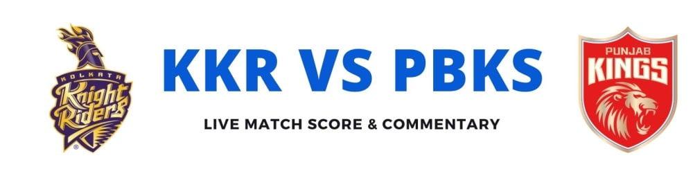 KKR vs PBKSlive score