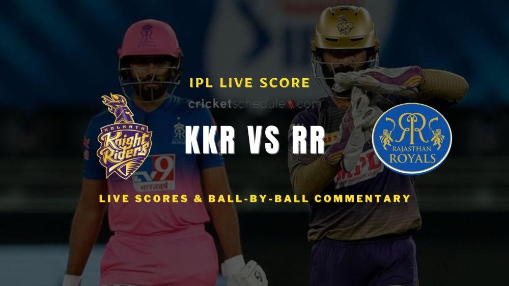 KKR vs RR 2021 matchlive score