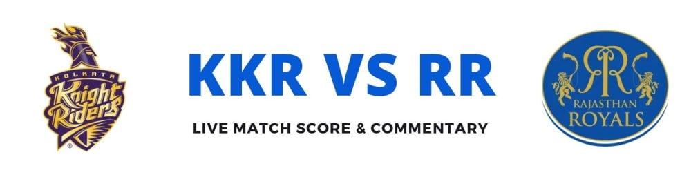 KKR vs RRlive score