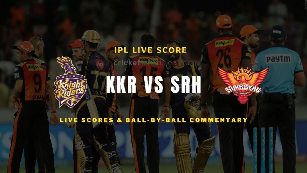 SRH vs KKR 2021 matchlive score