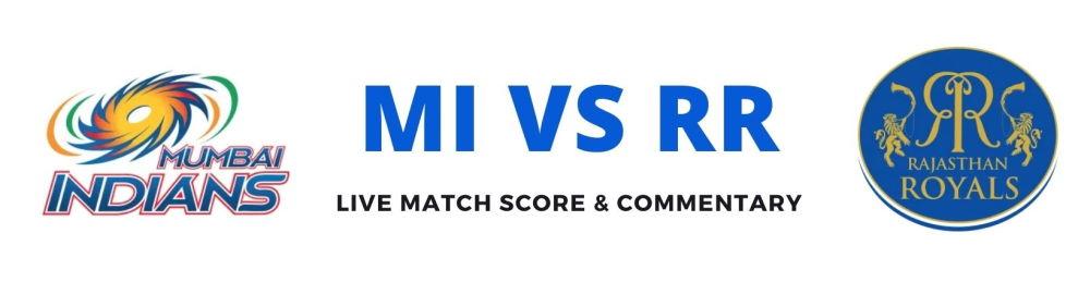 MI vs RR live score