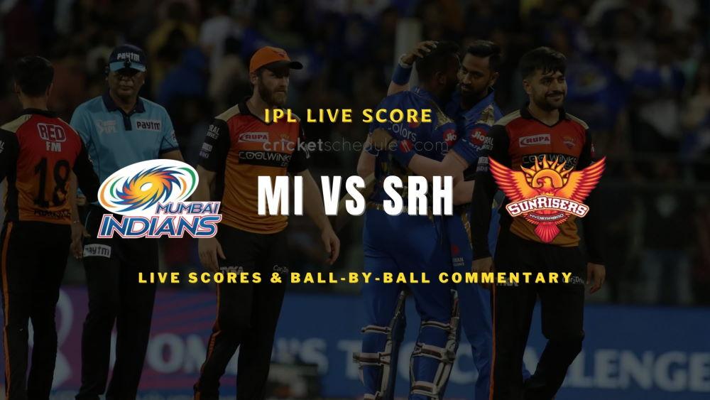 SRH vs MI 2021 match live score