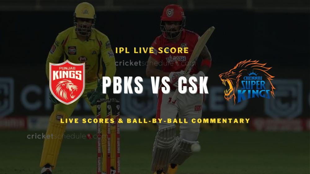 PBKS vs CSK 2021 matchlive score