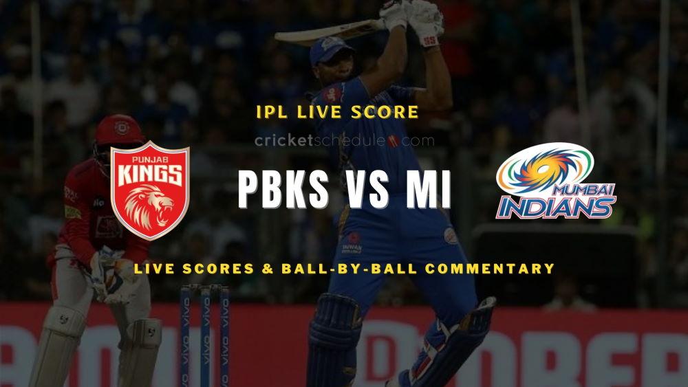 PBKS vs MI2021 match live score