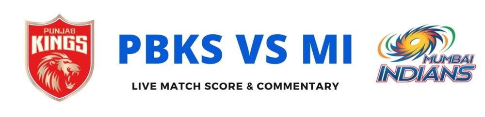 PBKS vs MIlive score