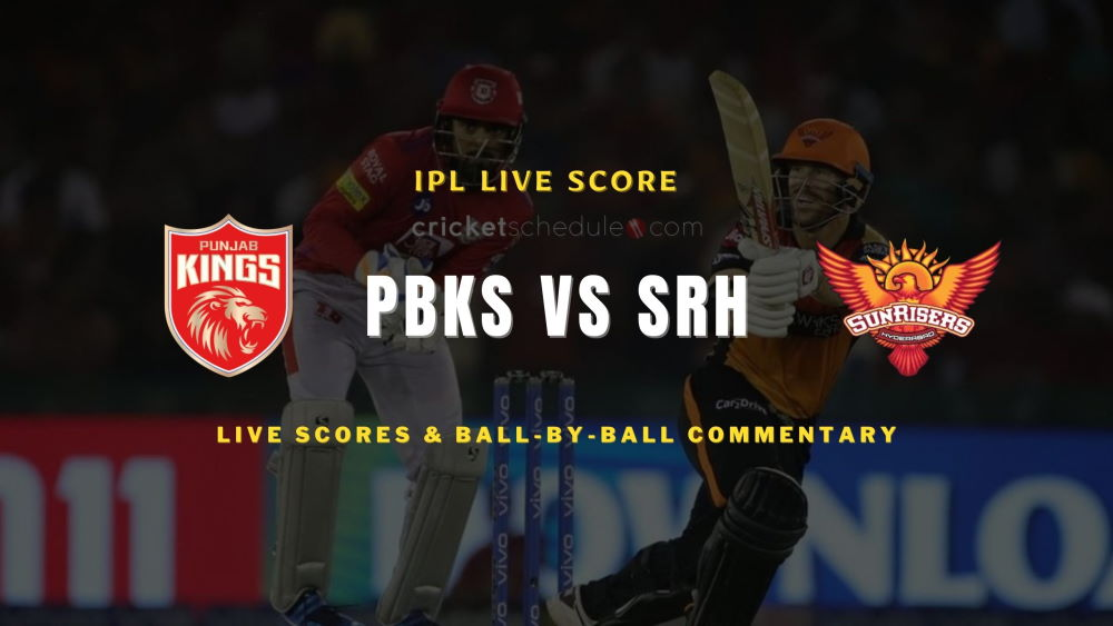 SRH vs PBKS 2021 matchlive score