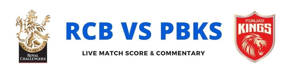 RCB vs PBKSlive score