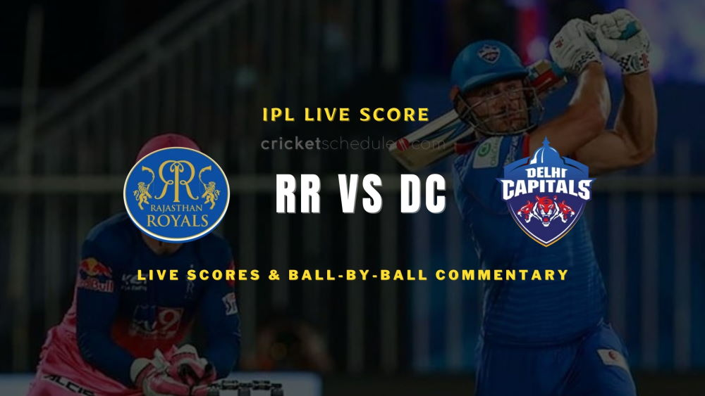 DC vs RR 2021 match live score