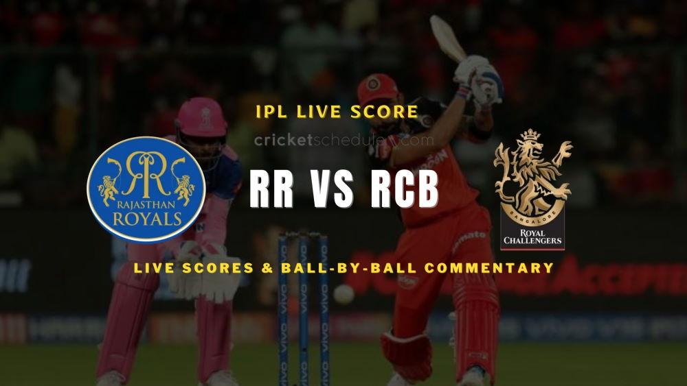 RR vs RCB 2021 match live score