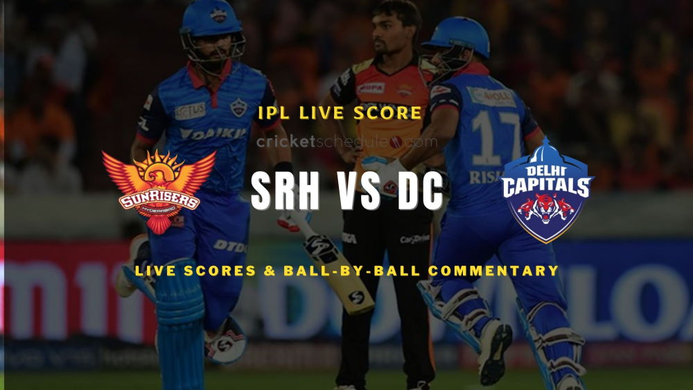 SRH vs DC 2021 match live score