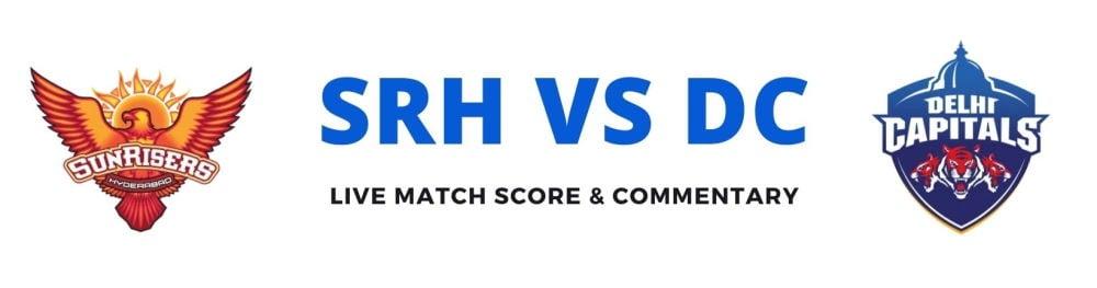 SRH vs DC live score